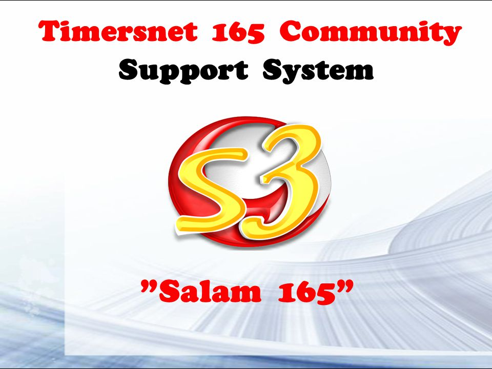 Timersnet 165 Community Support System Salam 165