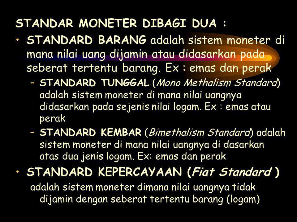 STANDAR MONETER DIBAGI DUA :
