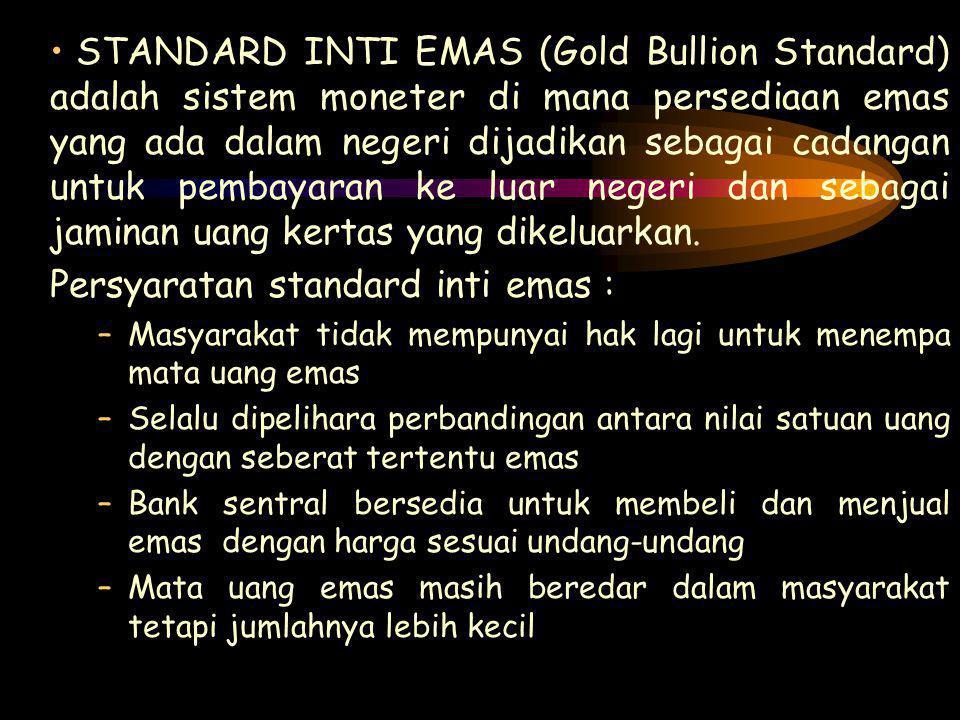 Persyaratan standard inti emas :