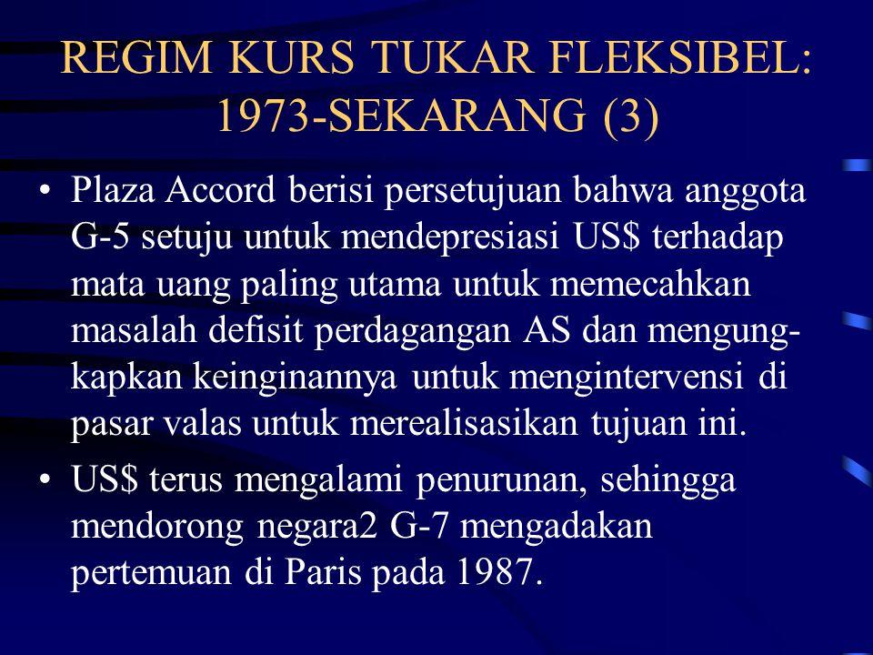 REGIM KURS TUKAR FLEKSIBEL: 1973-SEKARANG (3)