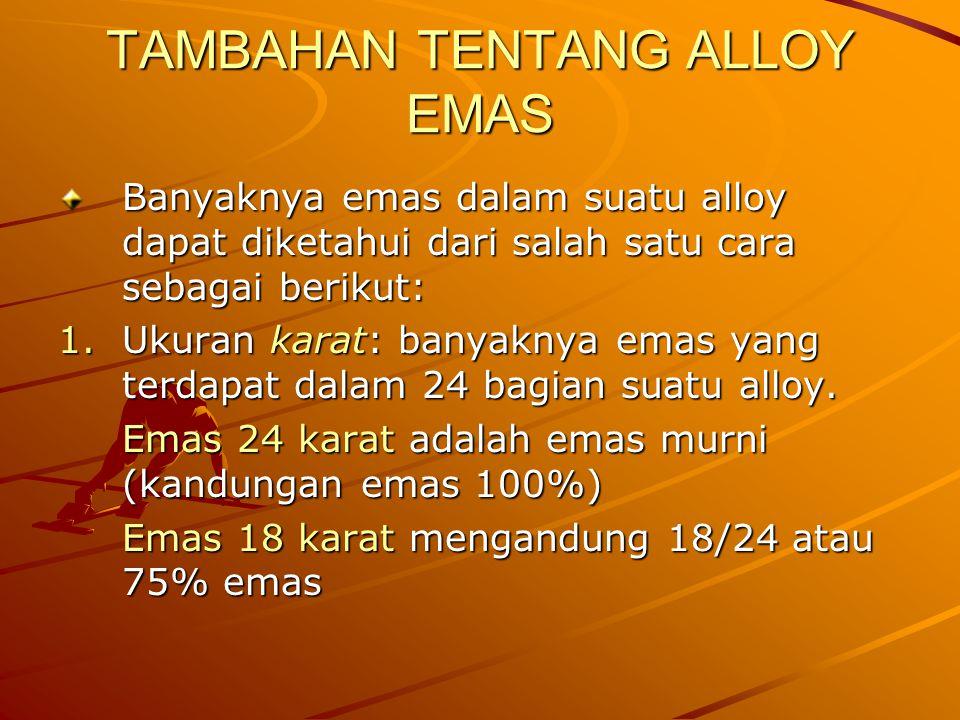 TAMBAHAN TENTANG ALLOY EMAS