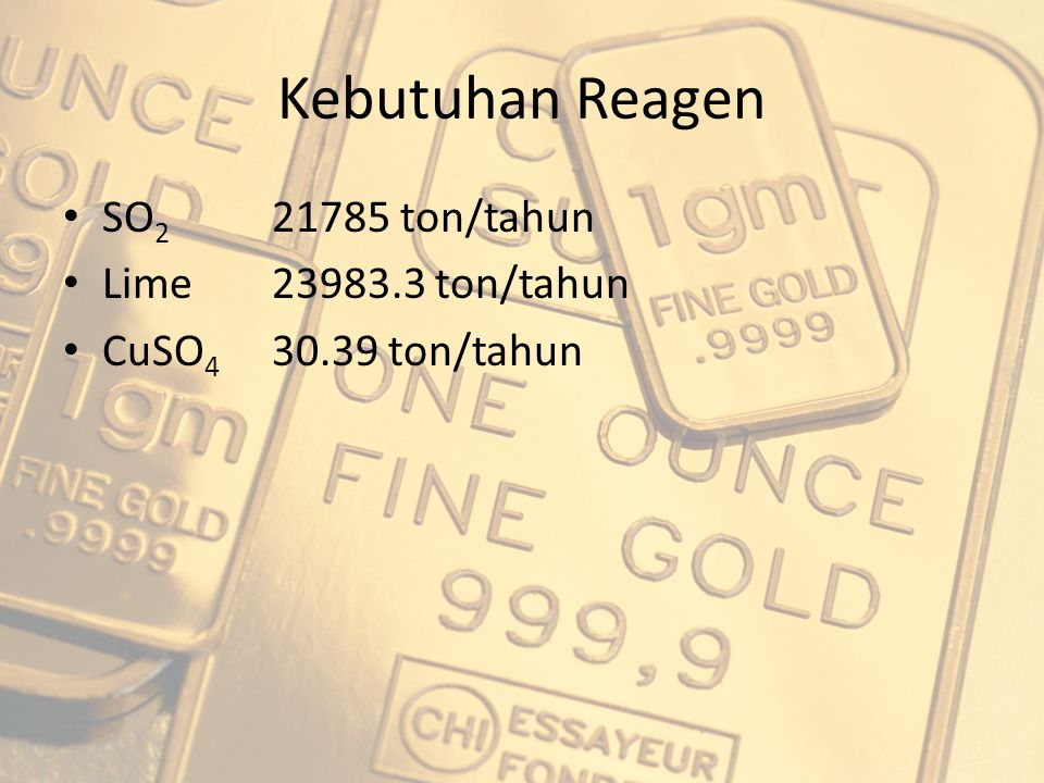 Kebutuhan Reagen SO2 21785 ton/tahun Lime 23983.3 ton/tahun