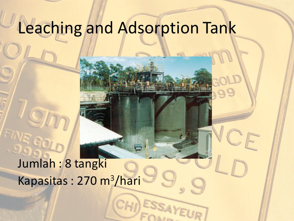 Leaching and Adsorption Tank