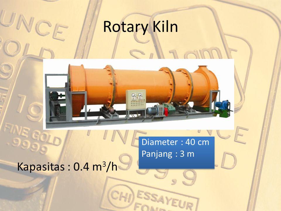 Rotary Kiln Kapasitas : 0.4 m3/h Diameter : 40 cm Panjang : 3 m