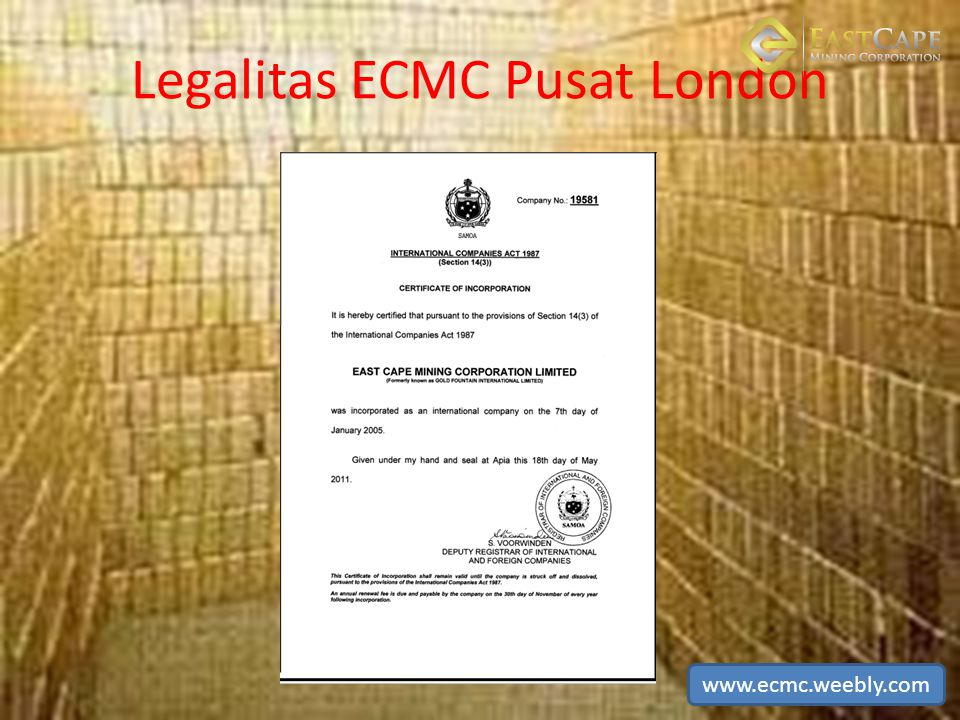 Legalitas ECMC Pusat London