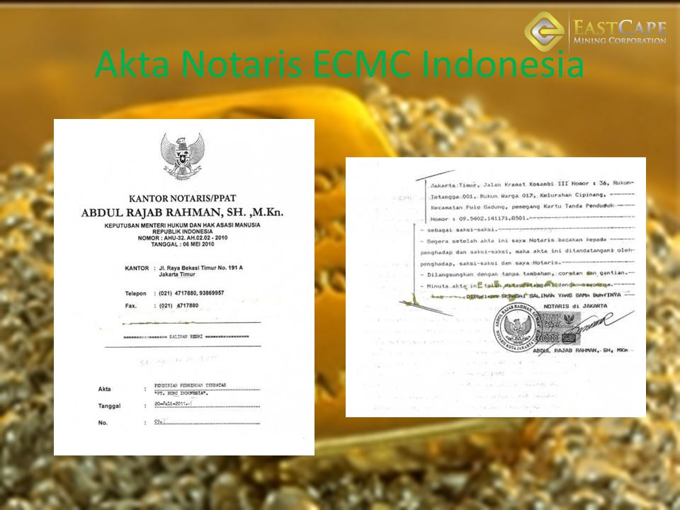 Akta Notaris ECMC Indonesia
