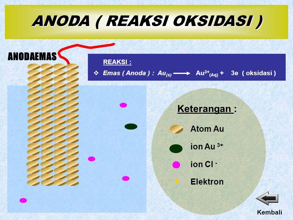 ANODA ( REAKSI OKSIDASI )