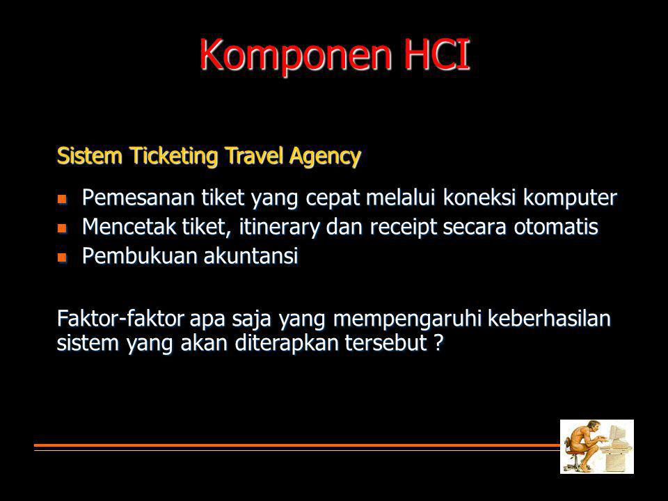 Komponen HCI Sistem Ticketing Travel Agency
