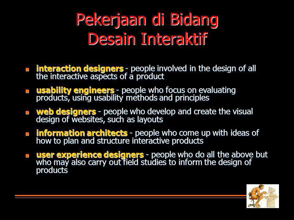 Pekerjaan di Bidang Desain Interaktif