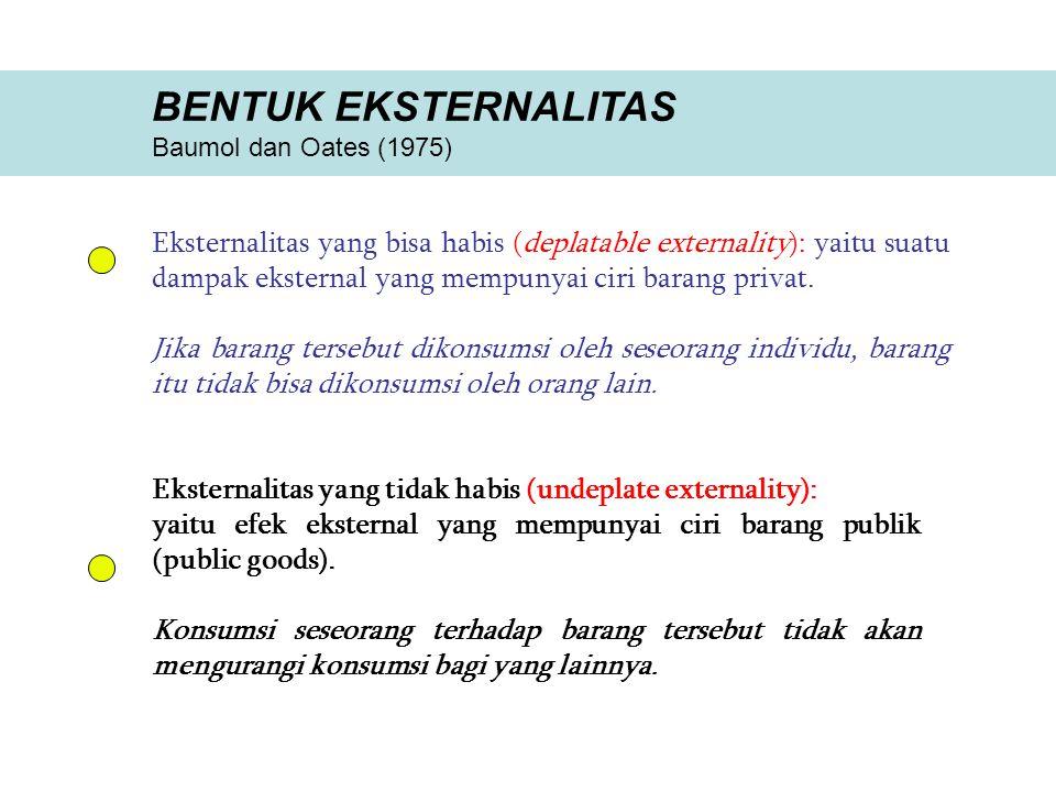 BENTUK EKSTERNALITAS Baumol dan Oates (1975)