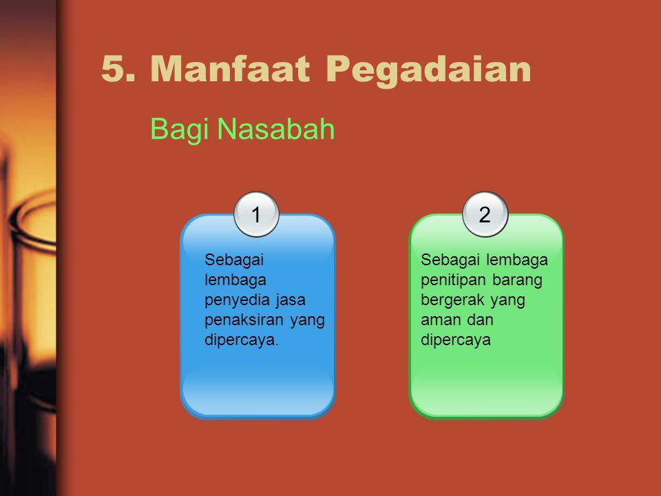 5. Manfaat Pegadaian Bagi Nasabah 1 2