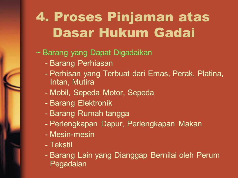 4. Proses Pinjaman atas Dasar Hukum Gadai