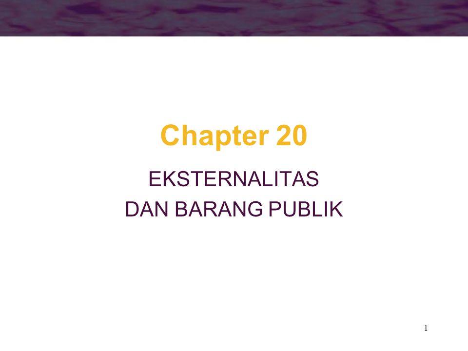 EKSTERNALITAS DAN BARANG PUBLIK