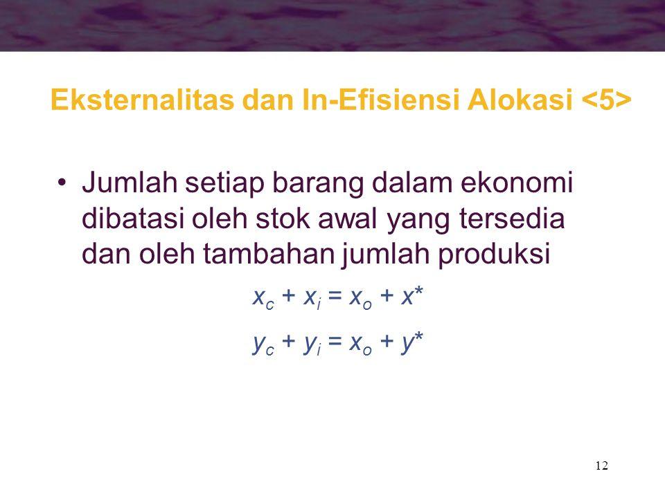 Eksternalitas dan In-Efisiensi Alokasi <5>
