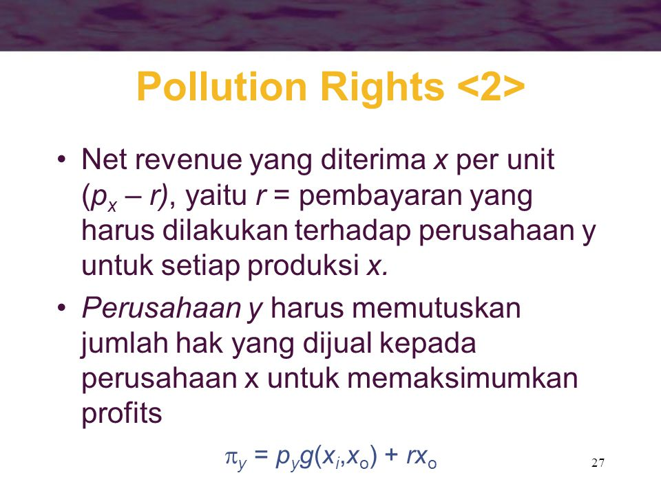 Pollution Rights <2>