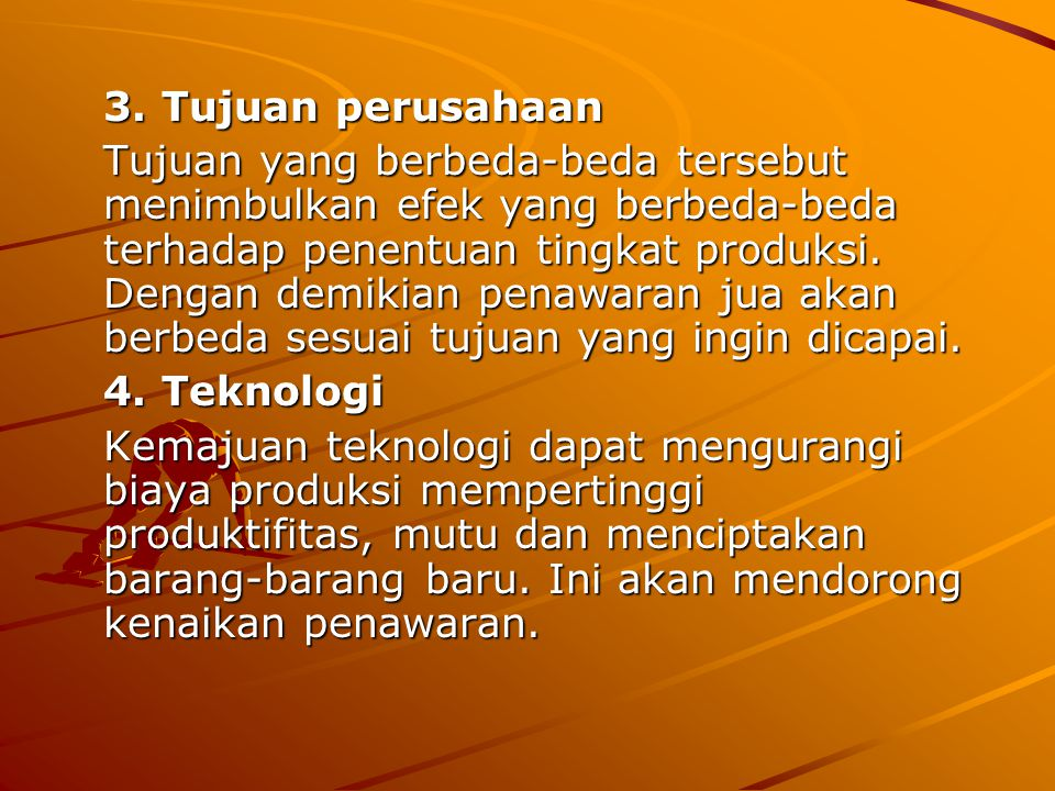 3. Tujuan perusahaan