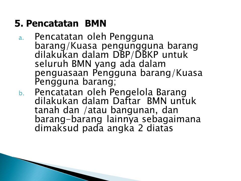 5. Pencatatan BMN