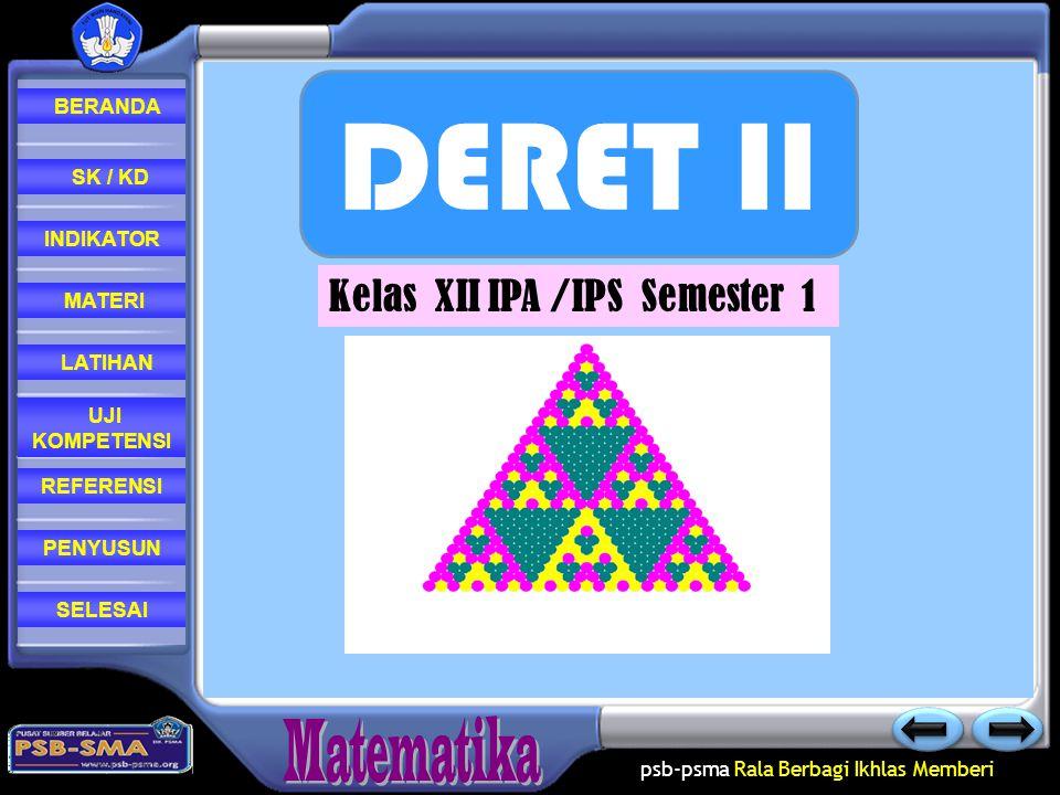 DERET II Kelas XII IPA /IPS Semester 1