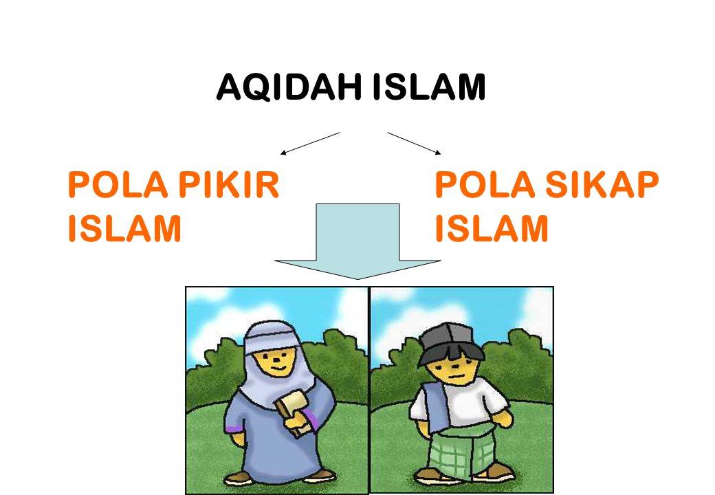 AQIDAH ISLAM POLA PIKIR ISLAM POLA SIKAP ISLAM