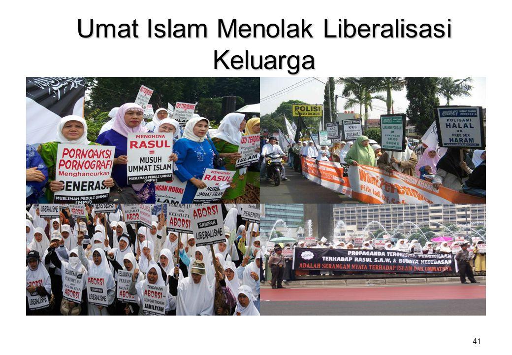 Umat Islam Menolak Liberalisasi Keluarga