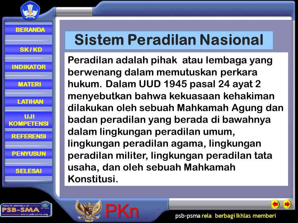 Sistem Peradilan Nasional