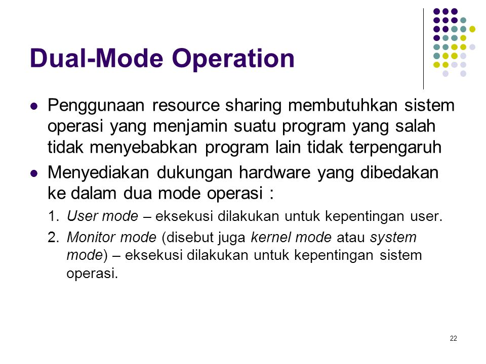 Dual-Mode Operation