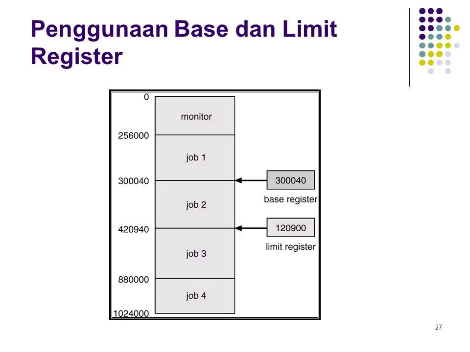 Penggunaan Base dan Limit Register