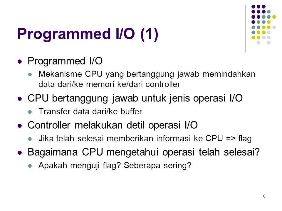 Programmed I/O (1) Programmed I/O