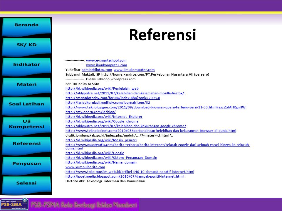 Referensi ----------------. www.e-smartschool.com