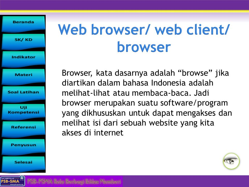 Web browser/ web client/ browser