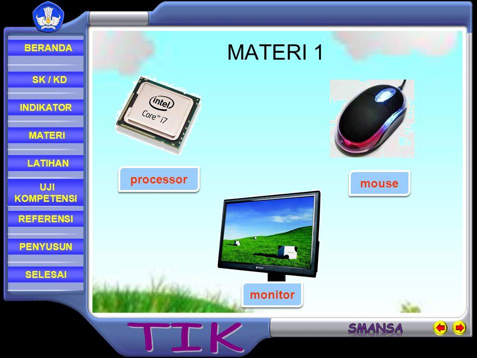 MATERI 1 processor mouse monitor