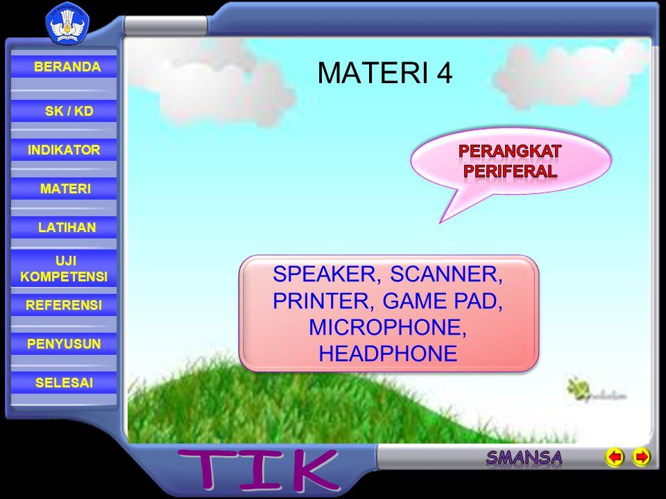 SPEAKER, SCANNER, PRINTER, GAME PAD, MICROPHONE, HEADPHONE