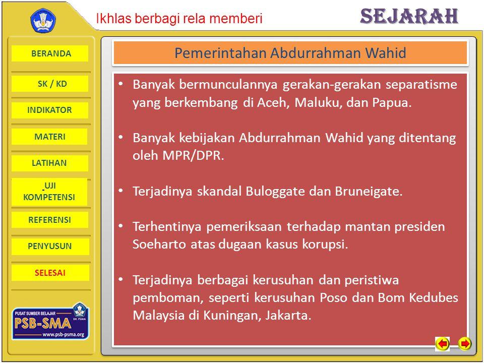 Pemerintahan Abdurrahman Wahid