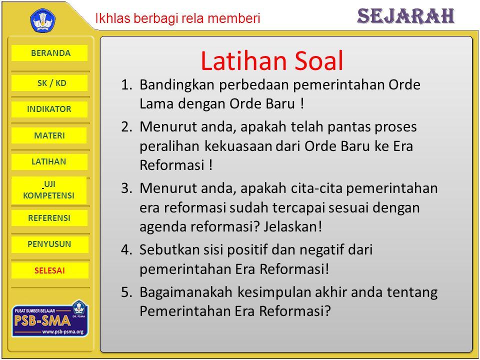 Latihan Soal Bandingkan perbedaan pemerintahan Orde Lama dengan Orde Baru !