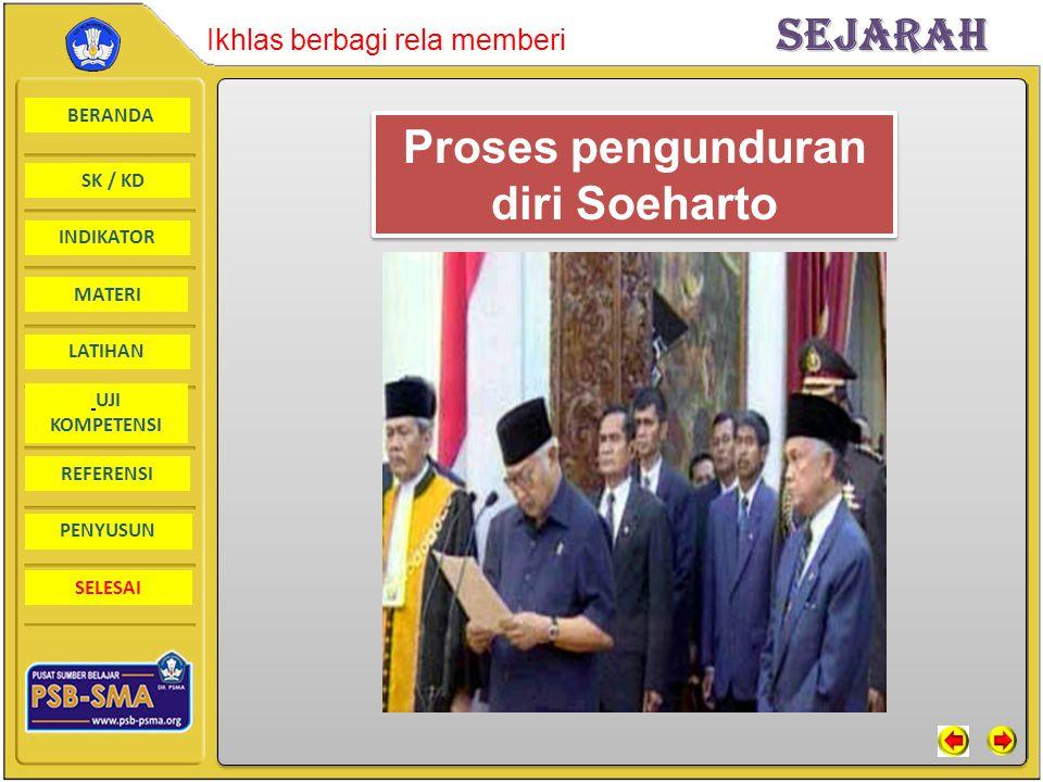 Proses pengunduran diri Soeharto