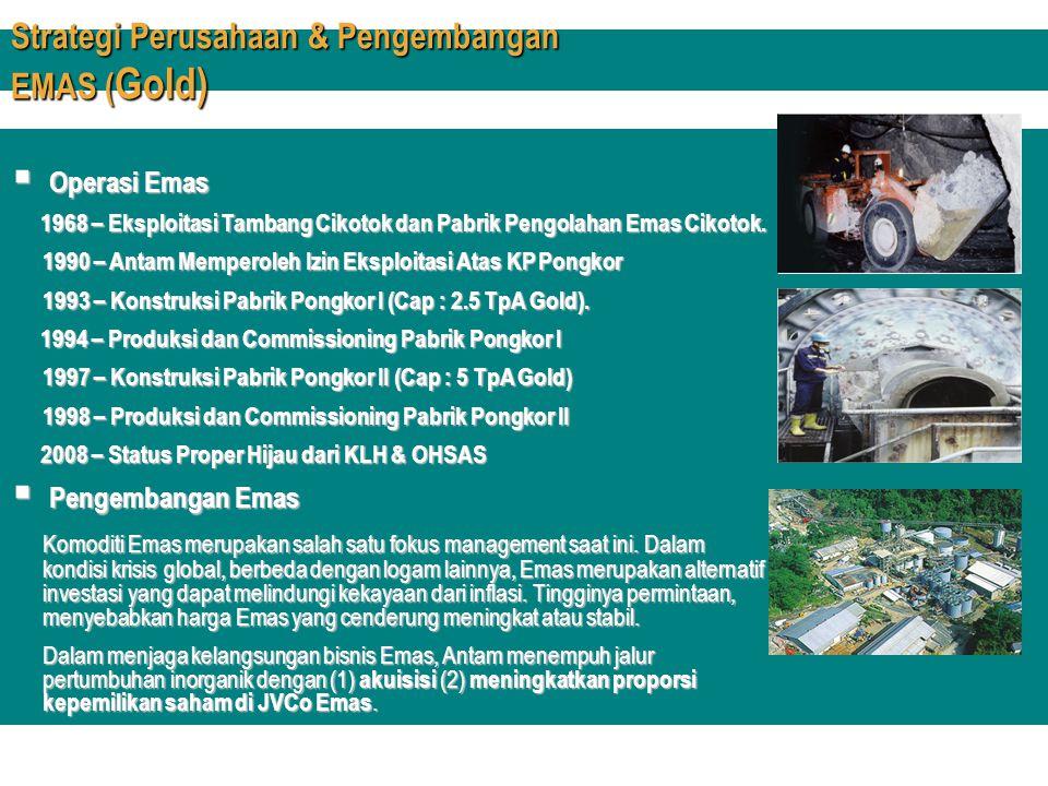 Strategi Perusahaan & Pengembangan EMAS (Gold)