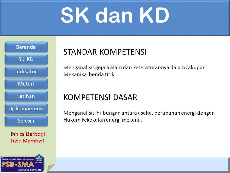 SK dan KD STANDAR KOMPETENSI KOMPETENSI DASAR Beranda SK KD