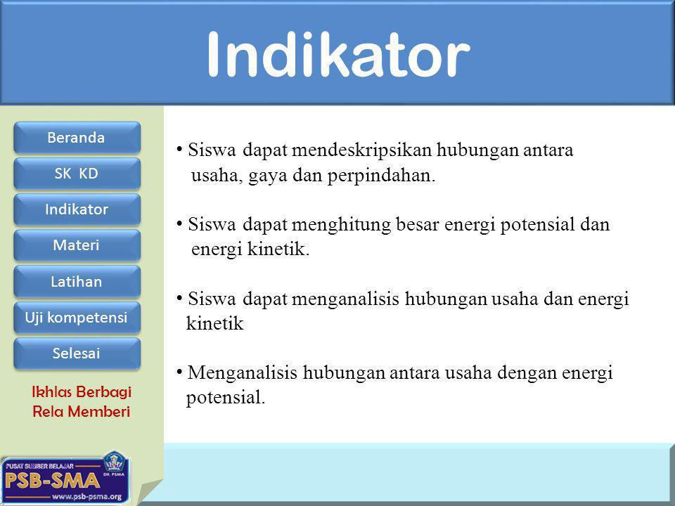 Indikator Siswa dapat mendeskripsikan hubungan antara