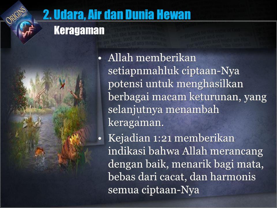 2. Udara, Air dan Dunia Hewan Keragaman
