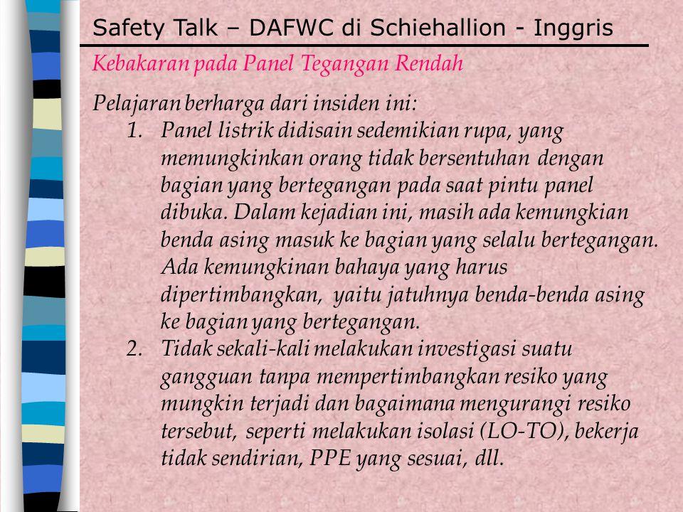 Safety Talk – DAFWC di Schiehallion - Inggris