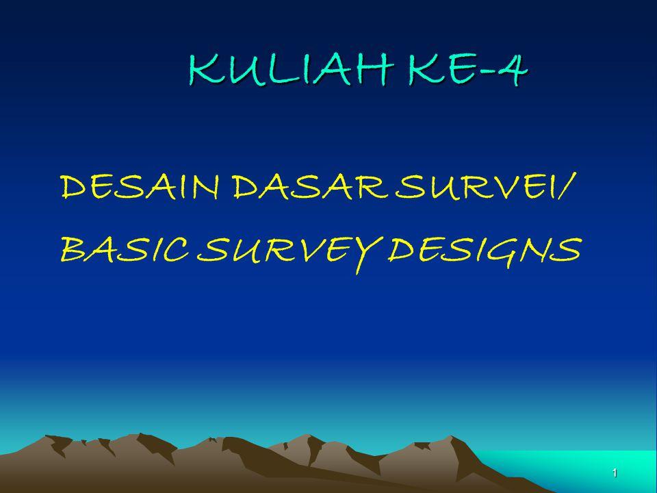 DESAIN DASAR SURVEI/ BASIC SURVEY DESIGNS