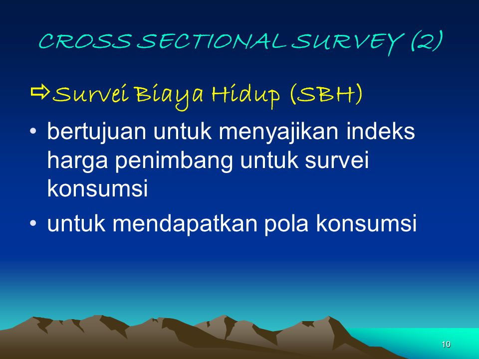 CROSS SECTIONAL SURVEY (2)