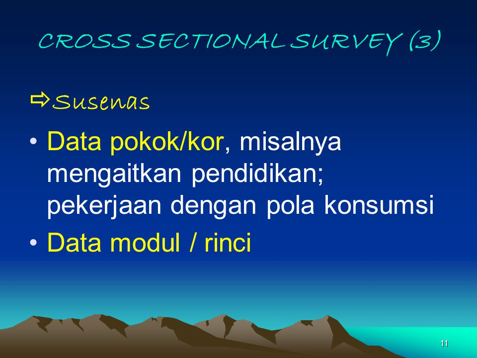 CROSS SECTIONAL SURVEY (3)