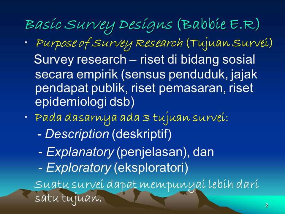 Basic Survey Designs (Babbie E.R)
