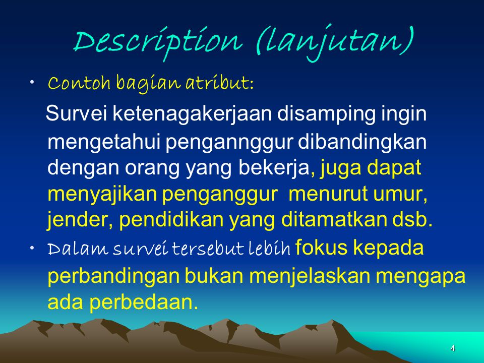 Description (lanjutan)