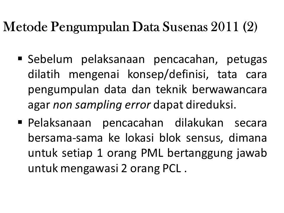Metode Pengumpulan Data Susenas 2011 (2)