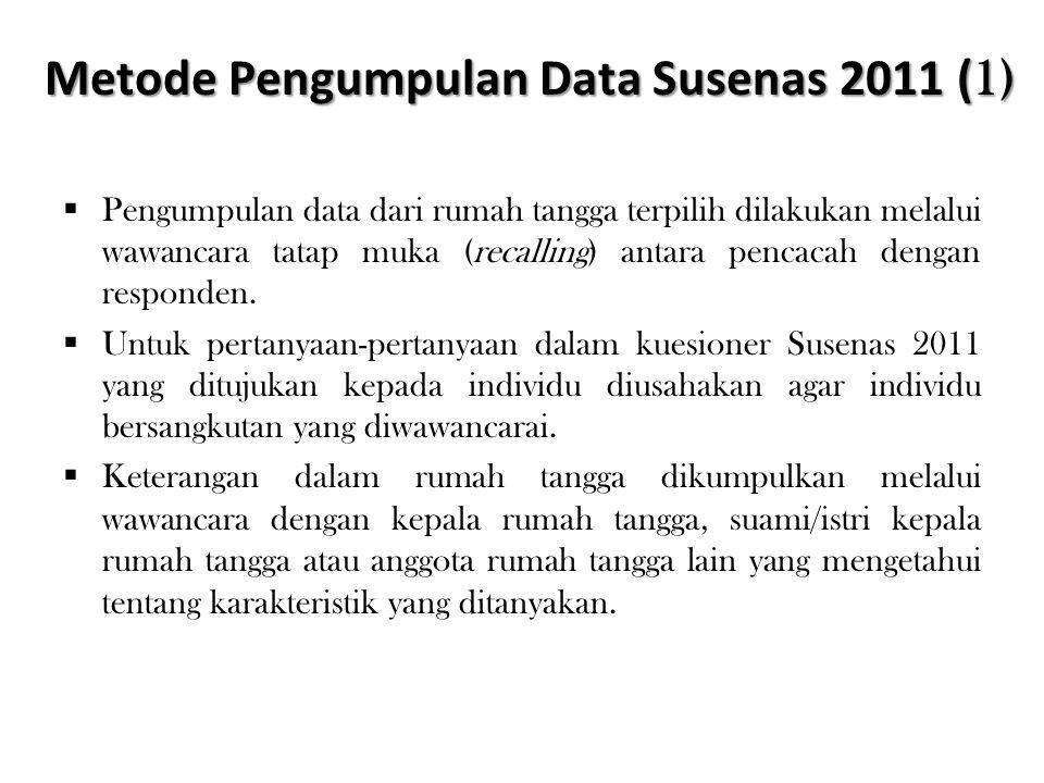 Metode Pengumpulan Data Susenas 2011 (1)