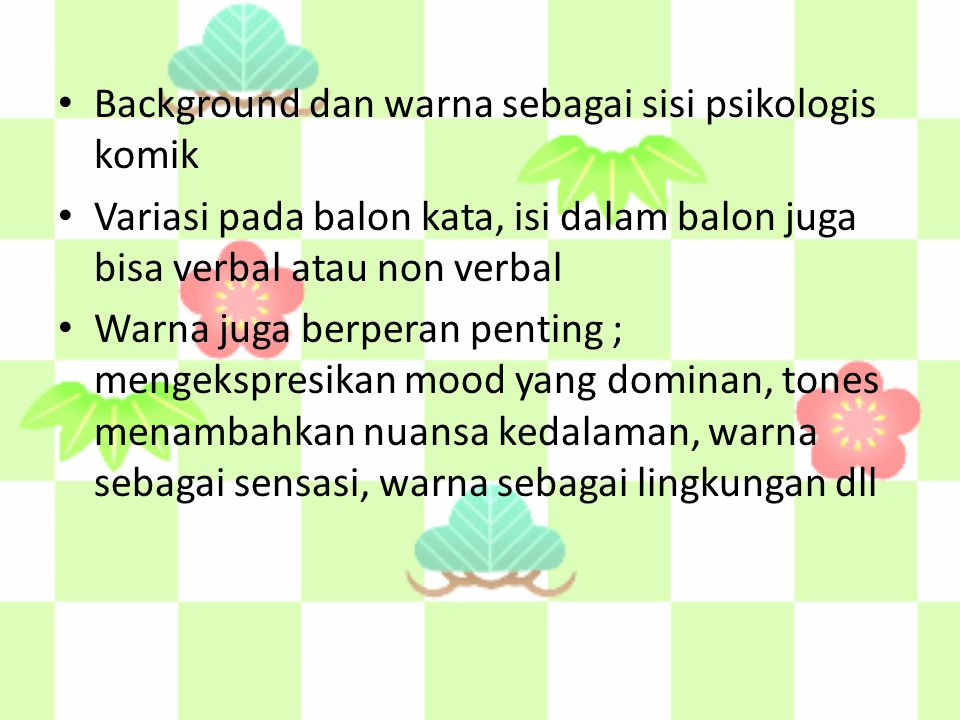 Background dan warna sebagai sisi psikologis komik