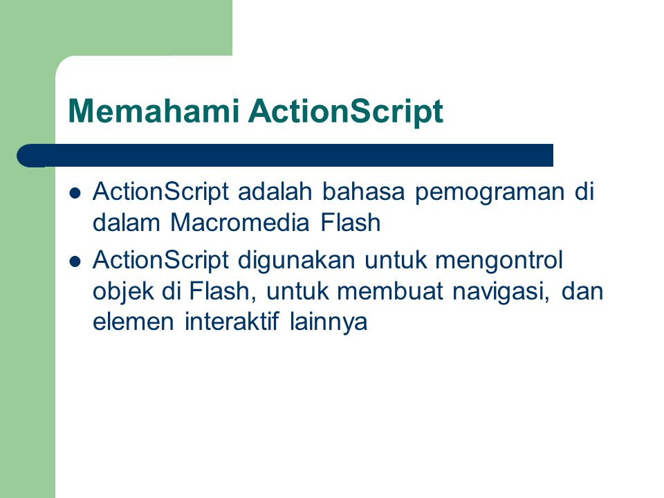 Memahami ActionScript