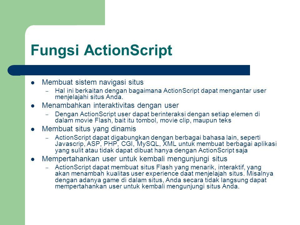 Fungsi ActionScript Membuat sistem navigasi situs